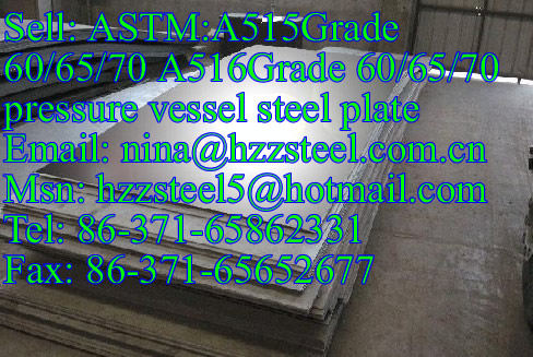 ASTM:A516Gr60/A516Gr65/A516Gr70 pressure vessel steel plate