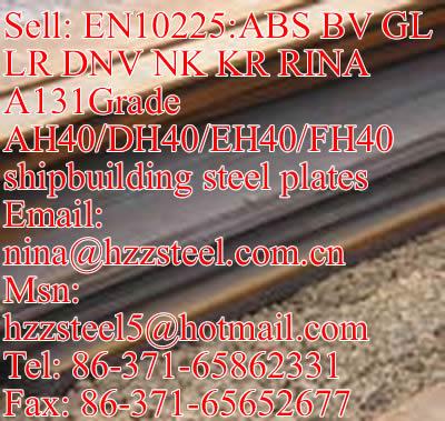 EN10225:DNV A131GrAH40/DH40/A131 GrEH40/FH40 marine steel plate