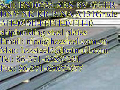 EN10225:GL A131GrAH36/DH36/A131GrEH360/FH36 marine steel plate