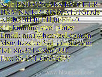 EN10225:LR A131GrA/A131GrB/A131GrD/A131GrCS/A131GrE marine steel plate