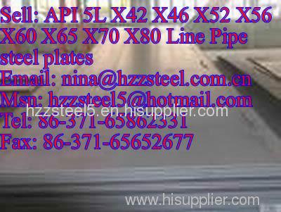 API 5L X42 X46 X52 X56 X60 X65 X70 X80 Line Pipe steel plates