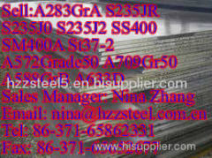 ASTM:A283GrA S235JR S235J0 S235J2 SS400 SM400A St37-2 common carbon steel plate