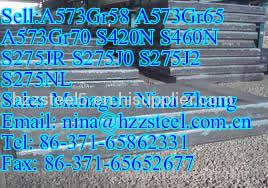 ASTM:A573Gr58 A573Gr65 A573Gr70 low-alloy high-strength steel plates