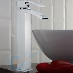 High stand waterfall basin faucet