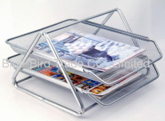 two layer letter tray