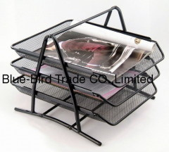 three layer letter tray