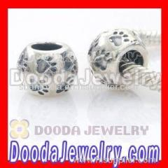 925 sterling silver Chamilia beads dog paw wholesale