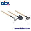 Basic steel Gardening Tools with wooden handle