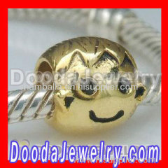 european style gold plated charm beads wholesale