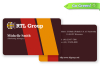 color charming business card