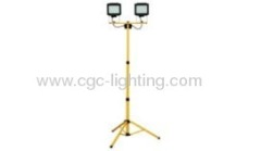 2*3W 2*45 LED twin head working lamp with tripod