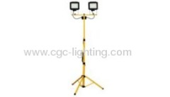 2*6W 2*96 LED twin head work light with tripod