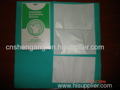 Medical disposable gloves with paper