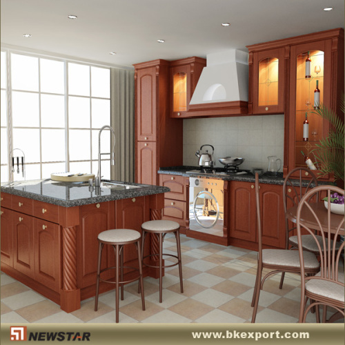 Prefab kitchen cabinets manufacturer from china newstar for Prefabricated kitchen cabinets