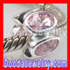 925 Sterling Silver Chram Jewelry european Stone Beads With Pink Gemstone Beads