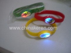LED Flashing Silicone Bracelet for children