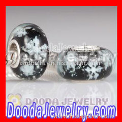 cheap european snowflake glass beads wholesale