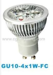 GU10 4X1W-FC high Power LED lamp