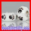 european Style Environmental Murano Baby Foot Print Glass Beads Wholesale