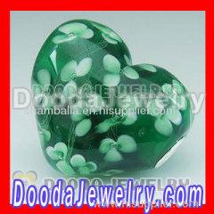 wholesale european heart murano glass beads