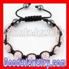 Shamballa bead pink Disco ball bracelet
