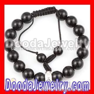 Shamballa bead black onyx bracelet wholesale