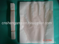 Medical gloves with paper PE,CPE,EVA