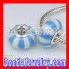 925 Sterling Silver Double Cores Charm Jewelry Polymer Clay Beads european Compatible