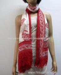 modal pinted woven long scarf