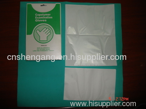 Medical gloves with paper sterilized