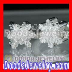 hot european silver snowflake beads