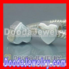 hot european silver heart beads