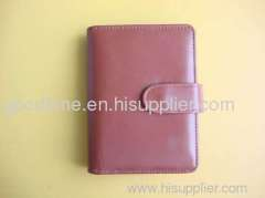 Pink business soft leather notebook