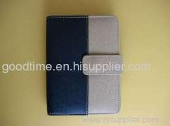 Fashion business soft leather notebook