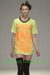 ladies' mercerized cotton t-shirts