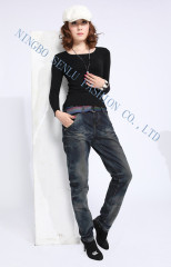 Women casual cotton jean with high quality.
