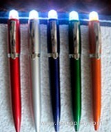 Glowing colorful ball-pen