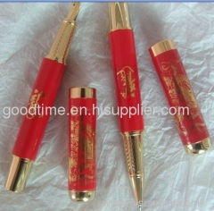 Chinese imperial red ball-pen
