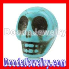 Turquoise Carved Skull Beads wholesale