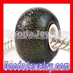 european style dichroic foil glass beads