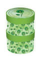 Green double cylinder gift box