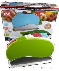4pc colour coded chopping board