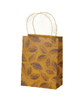 New yellow shopping gift bag