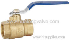 H-03101 blue handle Brass ball valve