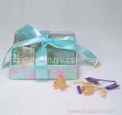 customizable recycle paper gift show packaging box with PVC window