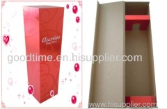 Red recyclable wine gift box: