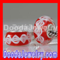 european Style Environmental Material Lampwork Murano Glass Rope Beads Jewellery