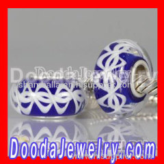 Fashion 925 Sterling Silver Core european Style Charm Jewelry Murano Lampwork Glass Beads