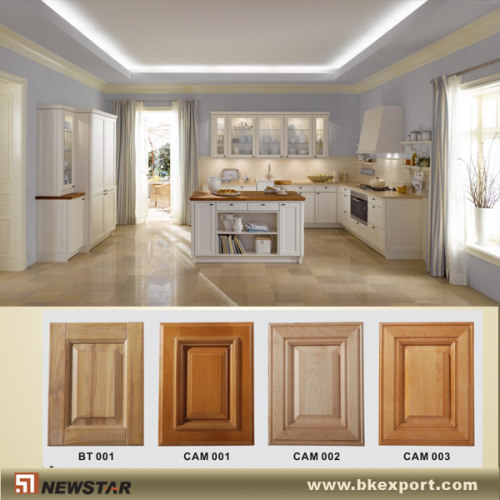 White Painting Modular Kitchen Cabinets Manufacturer From
