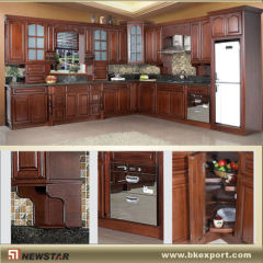 Cherry wood pantry cupboards